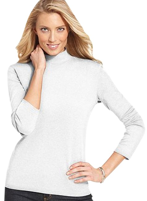 Karen Scott Cotton Machine Washable Imported Turtleneck Collar Style Long Sleeves Easy Fit Hits At Hip Sweater
