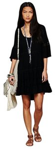 Free People short dress Black Boho on Tradesy