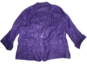 Jones New York Dark Purple Blazer