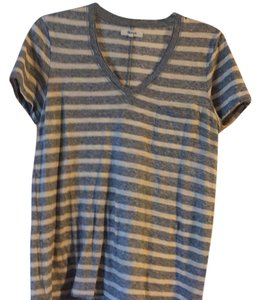 Madewell T Shirt Gray/cream stripe