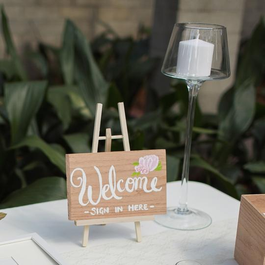 Floral Welcome Sign Reception Decoration