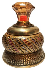 Other Jewelry Box; Indian Brass and Lac Glitter [ Roxanne Anjou Closet ]