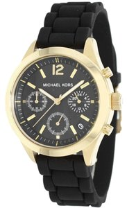 Michael Kors BRAND NEW WOMENS MICHAEL KORS (MK5408) JET SET BLACK SILICONE WATCH