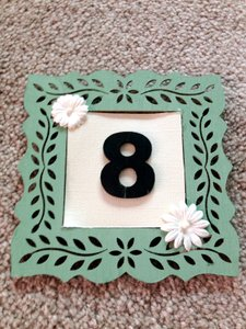 Black and Mint Green Table Numbers Tableware