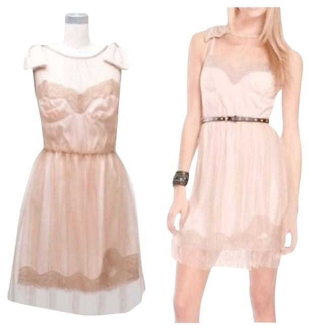 Item - Nude Blush Above Knee Night Out Dress Size 8 (M)