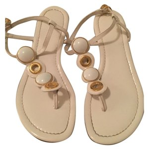 Tory Burch White with gold accents Sandals