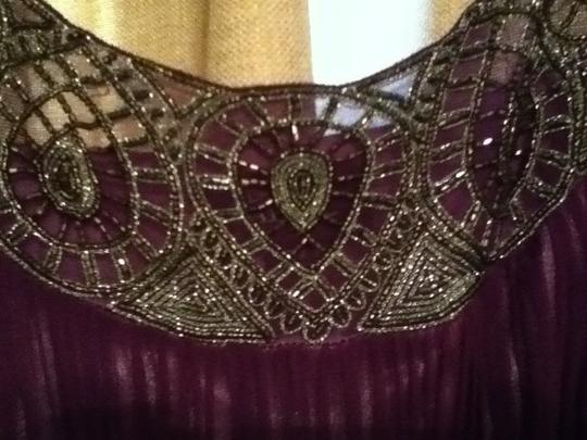 Adrianna Papell Purple Chiffon Formal Bridesmaid/Mob Dress Size 16 (XL, Plus 0x)