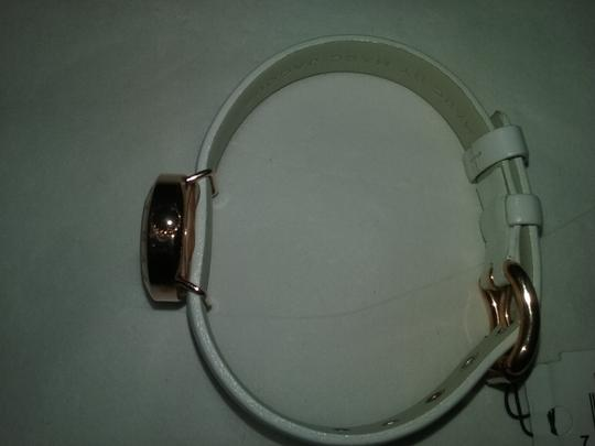 Marc by Marc Jacobs WITH BONUS-Rose Gold with White Leather Strap Watch