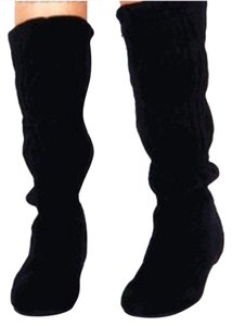 Other Slouch Suede Flat Leather black Boots