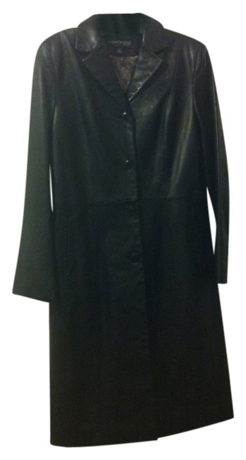 Kenneth Cole Leather Jacket Leather Trench Trench Trench Coat