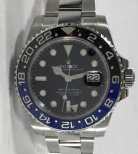 Rolex Mens Batman Rolex Gmt Ss Master Ii 116710blnr Stainless Steel Watch