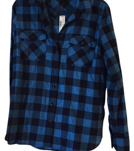 J.Crew Button Down Shirt Blue check