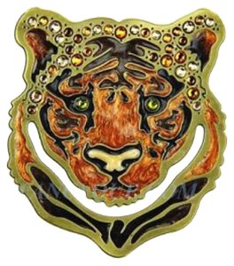 Jay Strongwater Tiger Head Bookmark