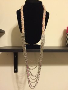 Akira Akira Multi strand Pink chain Long Necklace