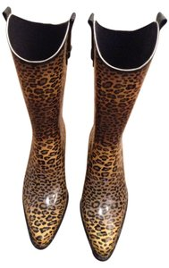 Corkys Brown and black leapord print Boots