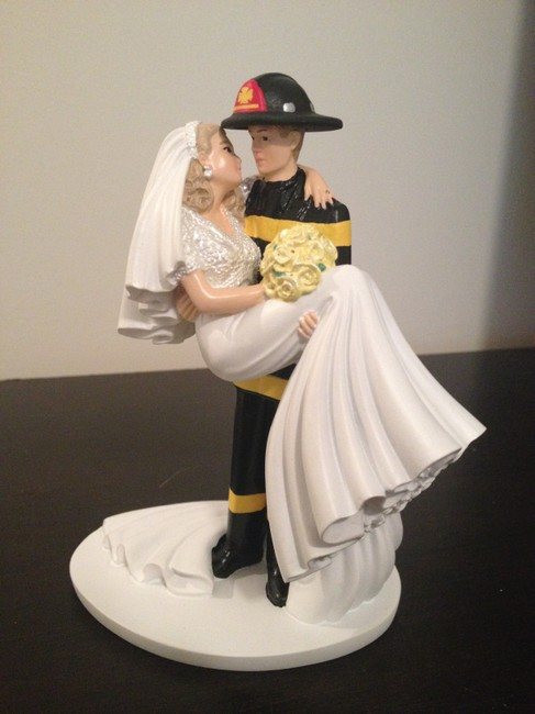 Item - Various Fire Fighter and Bride Cake Topper