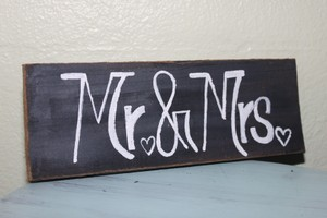 mr. & mrs. wooden handmade