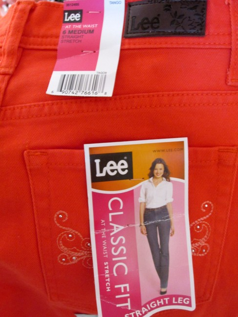 Lee Design Classic Fit Slimming Slim Straight Leg Jeans-Coated