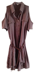 TCEC Belted Belted Casual Everyday Blouse Button Down Button Down Tunic