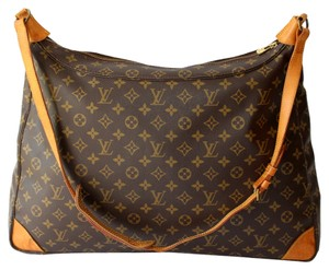 Louis Vuitton Monogram Canvas Leather Promenade Huge Large Zipper Top Satchels Speedy Neverfull Vintage Sac Promenade Xl Lcr Lady Tote in Brown