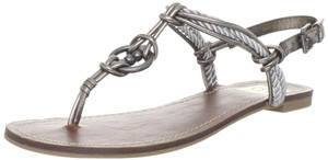 DV by Dolce Vita Hardware Leather Braided silver Sandals