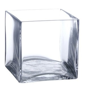 Candles 4 Less Clear Fourteen 5-inch Square Vases Centerpiece