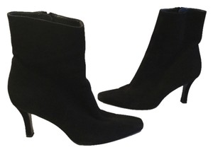 Stuart Weitzman Full Zippers Black suede all leather mid calf on sale Boots