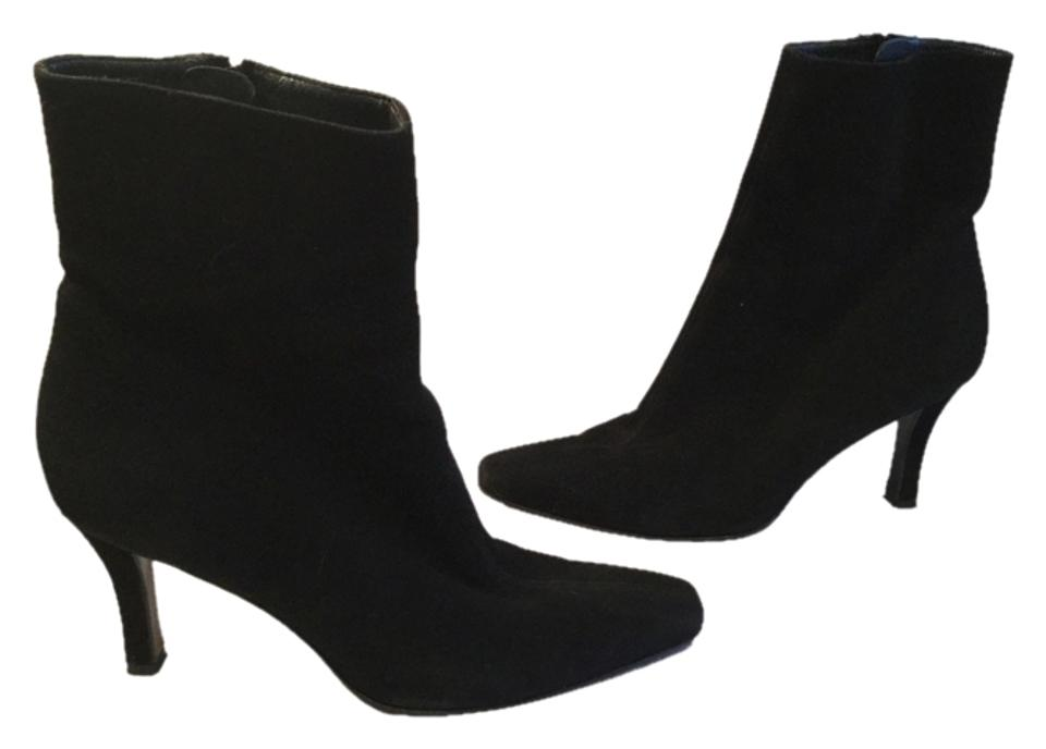 Stuart Weitzman Black Calf Suede All Leather Mid Calf Black Boots/Booties 951722