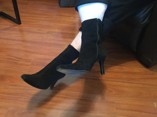 Stuart Weitzman Full Zippers Made Spain Black suede all leather mid calf on sale Boots