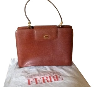 Gianfranco Ferre Designed Leather Satchel in Brown