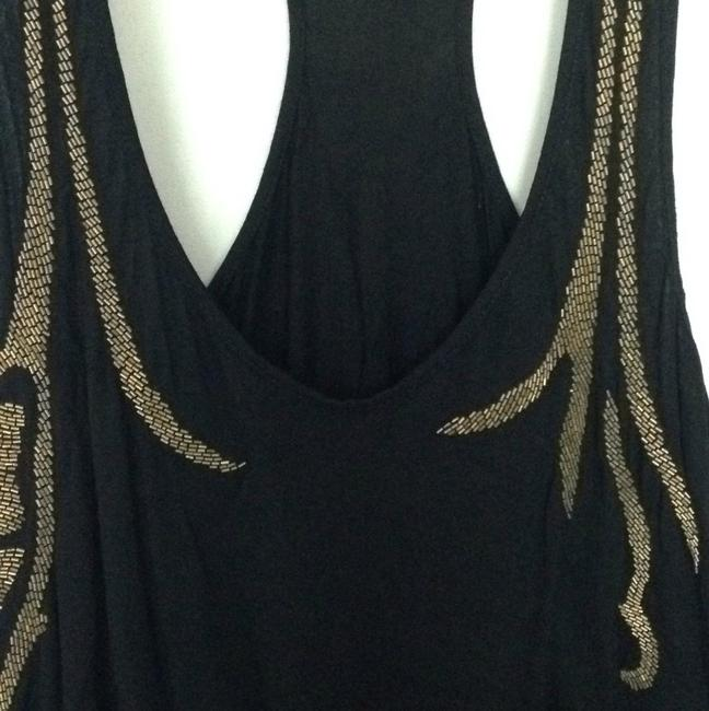Matty M Top Black with gold detail