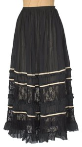 Jaloux Tiered Skirt BLACK