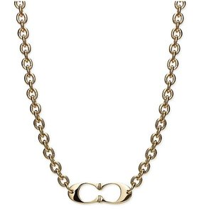 Coach Price Reduced Until 3/30..LAST ONE Kissing 'C's Gold ToneNecklace