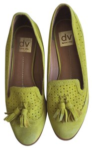 Dolce Vita Suede Loafers with Tassels- Chartreuse Green Flats