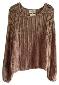 Banana U.S.A Knit Woven Blouse Long Sleeve Cover Up Tunic