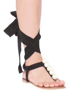 Jeffrey Campbell Black Suede Sandals
