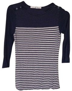 Max Studio Top Navy blue stripe
