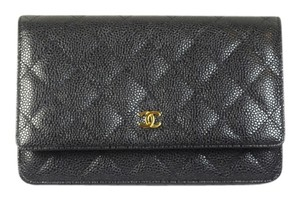 Chanel Woc Wallet On Chain A33814 Black Messenger Bag