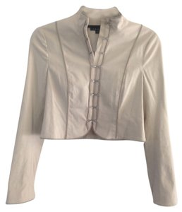 Theory Structured Silver Hardware Fitted Holiday Embroidered Night Out Evening Date Night Tan Blazer