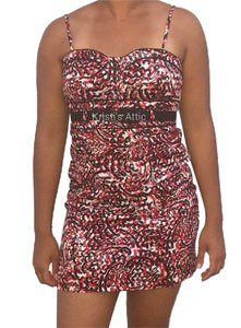 Grass Collection short dress Red White Black on Tradesy