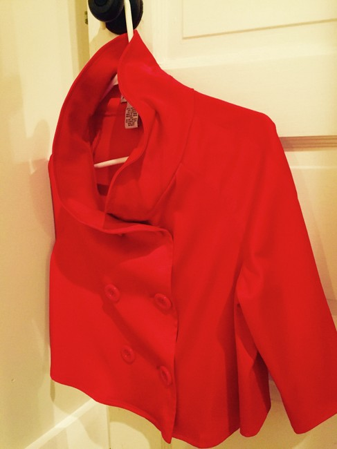 Steve Madden Flowy Cropped Evening Silky Red Jacket