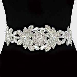 High Quality Versatile Marquise Crystal Beaded Bridal Sash Waist Band Headband Choker Necklace
