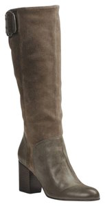 Calvin Klein Tall Midcalf Taupe Zip Brown Boots