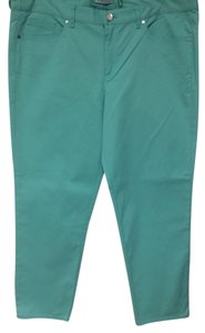 Tahari Stretch Pant Green Peppermint Women Ladies Misses Designer Fashion Style Chic Skinny Jeans-Light Wash