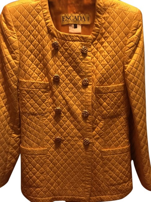 Preload https://item4.tradesy.com/images/escada-yellow-with-gold-buttons-skirt-suit-size-4-s-5249008-0-0.jpg?width=400&height=650