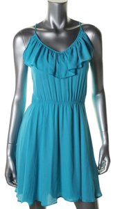 Aqua short dress blue on Tradesy