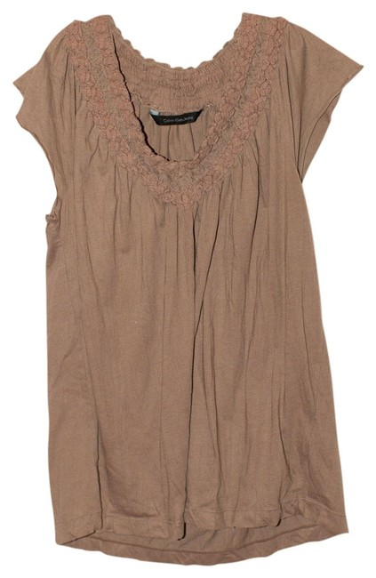 Preload https://item4.tradesy.com/images/calvin-klein-brown-tunic-size-8-m-524913-0-0.jpg?width=400&height=650