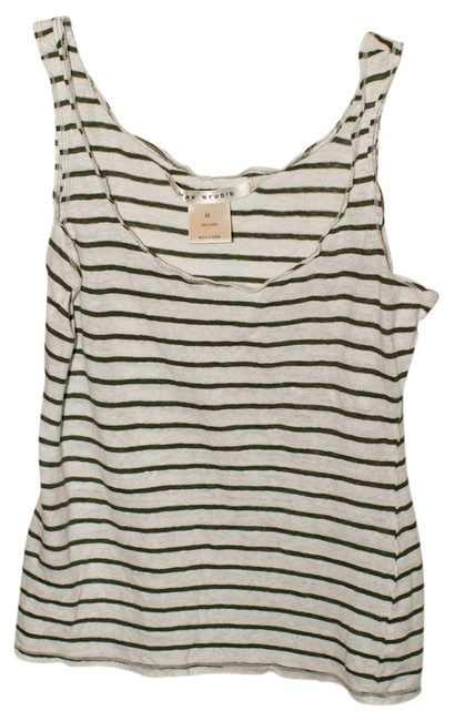 Preload https://item2.tradesy.com/images/max-studio-greenwhite-tank-topcami-size-petite-8-m-524916-0-0.jpg?width=400&height=650