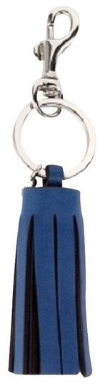 Coach COACH LEGACY BLUE LEATHER TASSEL KEYCHAIN