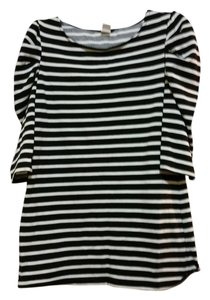 One Clothing Top Black with White Stripes
